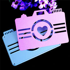 Heart Camera Cutting Dies Stencils DIY Scrapbooking Embossing Paper Card Craft