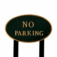 Montague Metal Products SP-2L-HGG-LS Large Hunter Green and Gold No Parking Oval