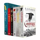 Giordano Bruno Series 6 Books Collection Set By S. J. Parris Conspiracy, Treache