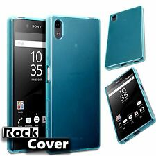 Rock Cover Sony Xperia Z5  Flex Gel Case Hybrid Tech UK  Bumper Stealth Blue New