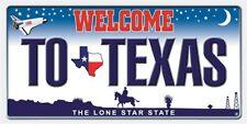 "Texas Plate Towel Welcome Lone Star State Beach Pool Souvenir 30""x60"""