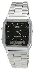 Casio AQ230A-1D Men's Silver Tone Metal Band Analog Digital Dual Time Watch