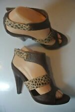 Nine West Snoop Leather Calf Hair Strappy Heels Sandals Shoe Size 7 @ cLOSeT