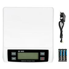 30kg1g Digital Transportation Postal Scale Battery Amp Ac Power Adapter White
