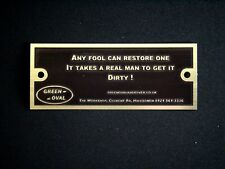 ANY FOOL CAN RESTORE ONE.... Land Rover CLASSIC OFF ROAD TDI etched alloy Badge