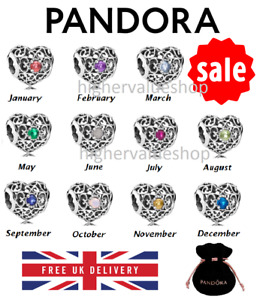 12 Months Pandora Birthstone Signature Charm S925 ALE Sterling Silver Brand NEW
