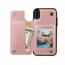Leather Wallet Card Holder Case Cover For iPhone 11 Pro 7 8 Xr Samsung S9 S10+