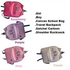Girl Boy Canvas School Bag Travel Backpack Satchel Cartoon Rucksack Toddler Camp