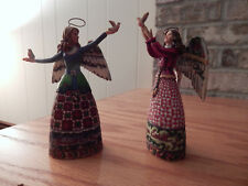 "jim shore Angels with Doves ""ornaments"" Mini version 6"" tall"