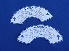 VOLVO P1800S AMAZON 122S 123GT FRONT & REAR AIR FILTER DECAL/STICKERS 672280/81