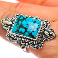 Huge Tibetan Turquoise 925 Sterling Silver Ring Size 9.5 Ana Co Jewelry R44600F