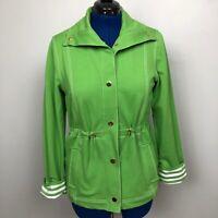 Jones New York Signature Women's Size L Green Stretch Long Sleeve Jacket