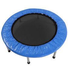 "Mini Band Trampoline 38"" Safe Elastic Exercise Workout w/ Padding & Springs Blue"