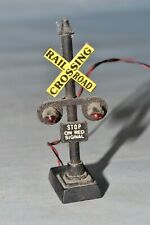 """N Scale Brass Railroad Crossing Signal w/ Lights Approximately 2.5"""" Tall (A)"""
