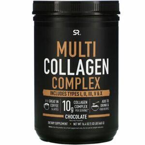 SPORTS COLLAGEN Multi Collagen Complex, Chocolate, 1.03 lb (465 g)