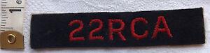 An Original WWII 22 RCA Royal Canada Artillery Cloth Badge (166)