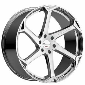 """4ea 22"""" Giovanna Wheels Dalar-X Chrome Rims SET of 4"""