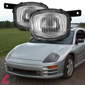 00-02 For Mitsubishi Eclipse Clear Lens Pair Bumper Fog Light Lamp Replacement