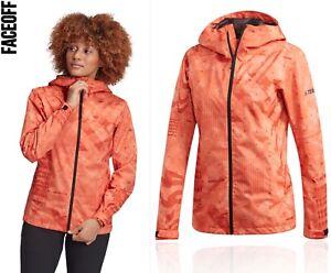Adidas Terrex Camo RAIN.RDY Waterproof Jacket Size Small (8-10)
