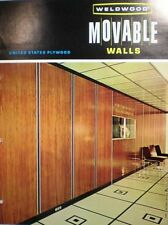 WELDWOOD Movable Wall Partition Weldrok ASBESTOS US Plywood Catalog 1963