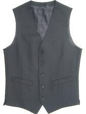 """MENS 34 36 """" XS S SMALL BLACK GREY & NAVY BLUE DRESS SUIT WAISTCOAT WAISTCOATS"""