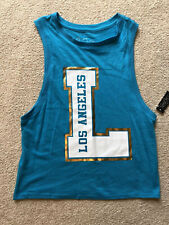 City Streets Sports Apparel Blue Los Angeles Tank Top Sport Top Activewear XS