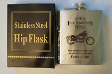 Collectable - Useable - Harley Davidson - fnd 1903 - 7oz. Stainless Steel Flask.