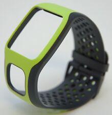 NEW TomTom Comfort Strap BLACK/GREEN Runner Multi-Sport GPS watch band cardio HR