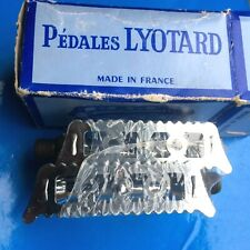 """NEW OLD STOCK VINTAGE BOXED LYOTARD 36 PEDALS,9/16"""" BRITISH THREAD,BRIGHT CHROME"""