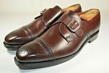 "Allen Edmonds ""Franciscan"" Single Monk Strap Brogue Merlot Burgundy Size 8.5 E"