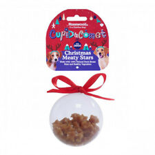 Rosewood Christmas 100% Natural Meaty Star Treats Bauble Gift For Dogs 80g
