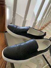 Gucci Men's Ace GG Signature Black Slip On Sneakers Size 11.5 US