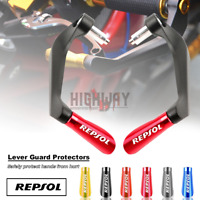 22mm Brake Clutch Handguards Levers Protector for Honda Repsol CBR600RR 1000RR