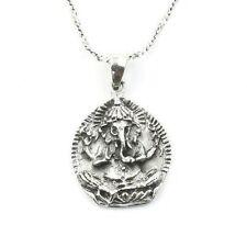 Sterling Silver Ganesh Necklace, Ganesha, Elephant, Yoga Jewelry, Meditation