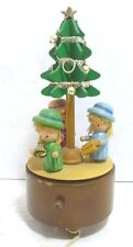 """Schmid 1981 """"When You Wish Upon A Star"""" Wood Motion Music Box Christmas Decor"""