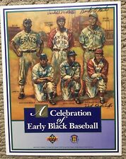 Negro Leagues Upper Deck Sheet  Autographed by 6  Ted Radcliffe Buck  O'Neil