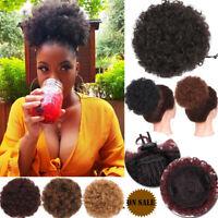 Drawstring Updo Curly High Puff Hair Extensions Afro Bun Natural Hair Ponytail J