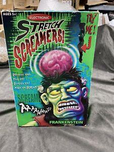 Electronic Stretch Screamers Frankenstein W/ Box Manley Toyquest Vtg Works