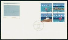 Canada Fdc 1985 Block of Lighthouses First Day Cover Wwh85233