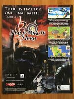 Half-Minute Hero PSP Playstation Portable 2009 Vintage Poster Ad Art Print Rare