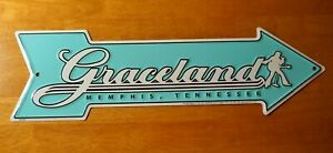 GRACELAND ARROW Elvis Memphis Tennessee ROAD STREET SIGN Rock N Roll Home Decor