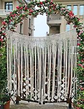 Pantaknot Large Macrame Boho Decor Wall Hanging Curtain Wedding Backdrop Arch W
