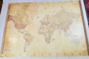 Terrain And Political World Map Pyramid Int. 2009  40x55 Preowned GPP51027