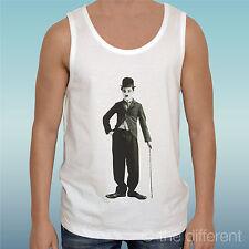 """Canotta T-Shirt """" Charlie Chaplin Cane """" Tank Top Gift Idea"""
