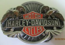 New Vintage Harley Davidson Siskiyou Belt Buckle1989 -Live to Ride--Ride to Live