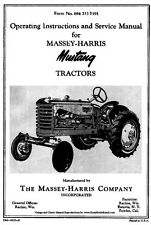 Massey Harris MUSTANG Tractors Operators Instructions and SERVICE manual