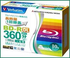 10 Verbatim Blu ray HD BD-R DL 50GB 4x Bluray Video Disc Free Region Blank BD