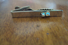 "Vintage Tie clip Clasp Rhinestone Gold tone Simple Basic 1 3/4 "" Good Condition"