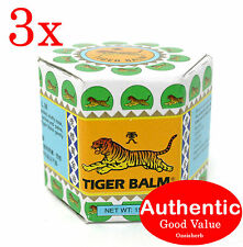 3X White Tiger Balm 19.4g Pain Relief ship from Hong Kong (New!)