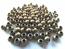 Antique Brass Colored Spacer Beads. 6mm. Quantity Approx. 100.